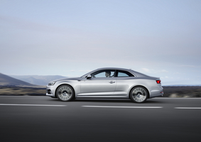The new A5 Coupe has wider axles, a longer wheelbase, but it is still up to 60kg lighter than its predecessor