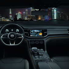 Volkswagen packed the concept with technology including two large LCD screens and Nappa leather