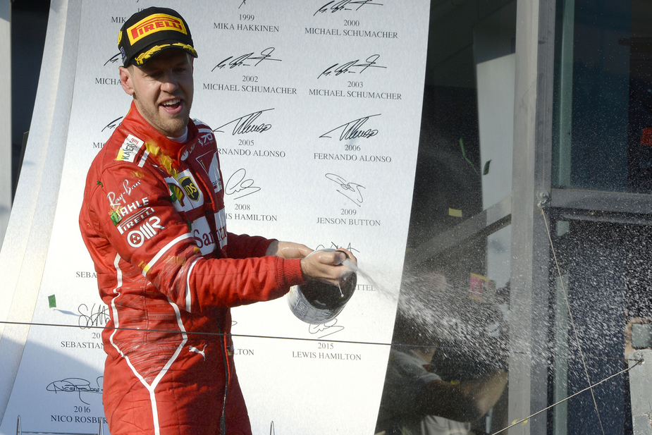 Vettel won the first race of the season beating the two Mercedes