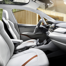 The interior features hardwearing leather
