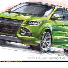 The HPP Escape gets a body kit, lowering kit and bright green paint job