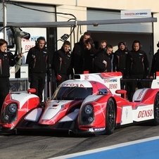 Toyota completed the new chassis and began testing it on Monday