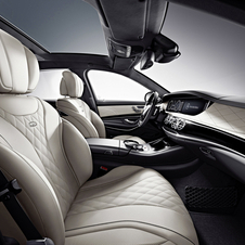 The interior gets all of Mercedes latest technology
