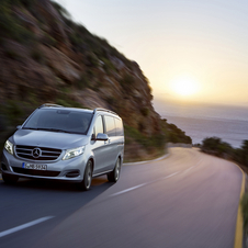 O MPV está equipado de fábrica com os sistemas Crosswind Assist e Attention Assist
