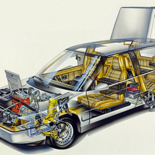 The car was revolutionary at the time for using carbon fiber in the door frames