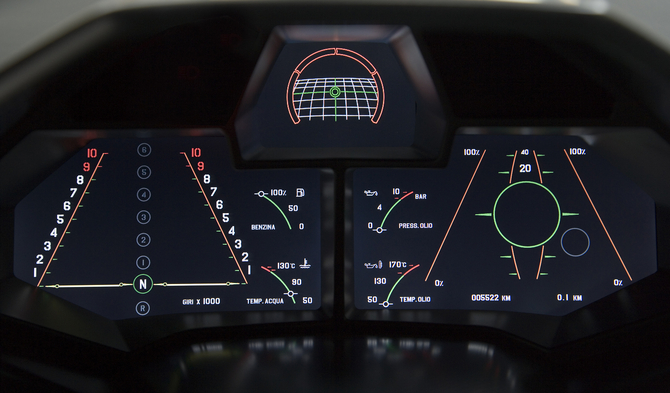 The Instrument Cluster Was Bespoke And Had A Tachometer Left
