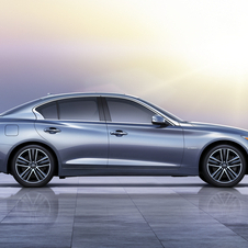 In the U.S. market the new Q50 will be sold with two V6 engines, a 3.7 unit with 328hp...