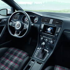 The GTI sticks with the tartan interior that has been a staple of the car