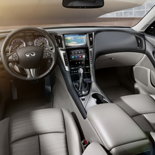 Interior detail from the Q50
