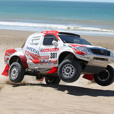 The Hilux has had multiple top 10 in class victories in Rally Raid and Dakar