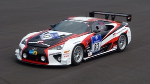 The GRMN LFA also competed in the 24 Hours of the Nurburgring this year