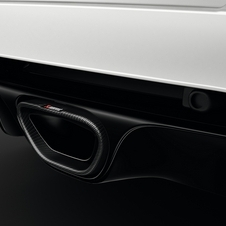 Detail of the rear exhaust of the Mégane Renaultsport 275 Trophy-R