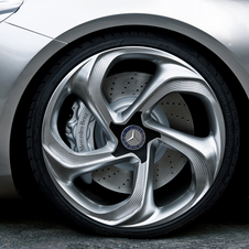 Mercedes says the wheels have a diamond effect