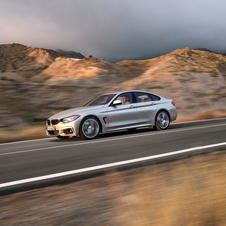 The BMW 4 Series Gran Coupé has exactly the same dimensions as the two-door coupé and front design features