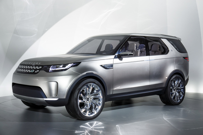 The new Land Rover concept represents a vision of the future family of vehicles Land Rover Discovery, the first of which will be released in 2015