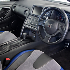 Nissan claims the interior has sticky Magic-cloth seats that keep the driver from slipping