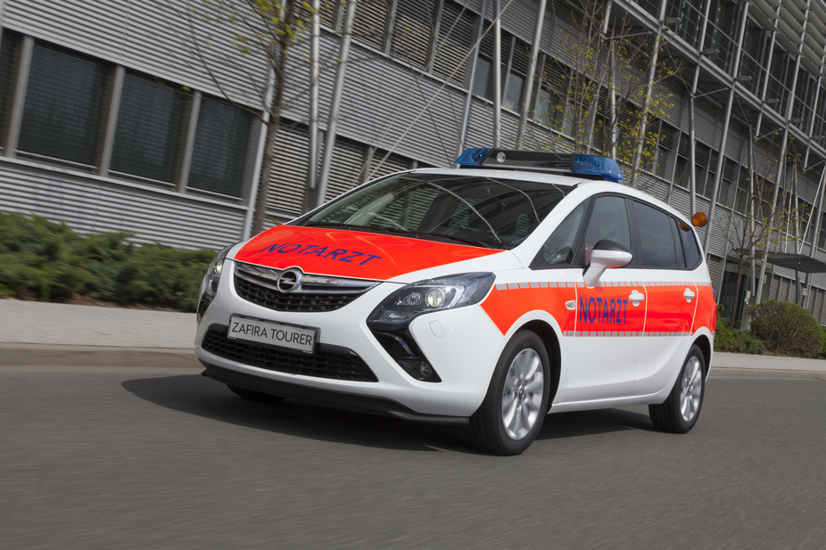 The Zafira Tourer is a fast response ambulance