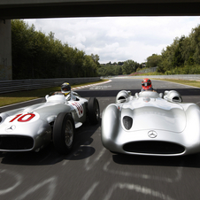Michael Schumacher and Nico Rosberg Drive Silver Arrows for DTM Opener