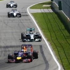 Ricciardo overtook Nico Rosberg with two laps to go