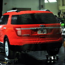 Ford Explorer Recreated in Lego