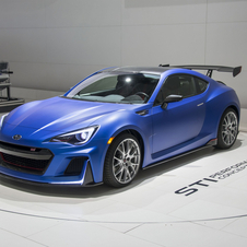 The vehicle may indicate the arrival of a more powerful version of the sports car BRZ