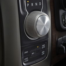 The knob allows for easy changing between gears