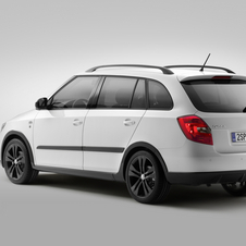 The Fabia Combi Monte Carlo is available with a wide array of engines and colors. It adds black trim and wheels