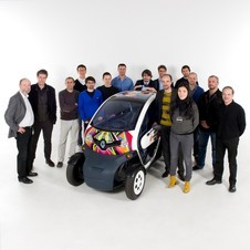 The Twizy is Renault's small electric car. It will be joined by the Zoe later in the year.