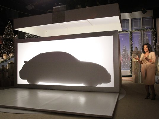 Volkswagen Beetle 2012 Oprah. Silhouette of new VW Beetle