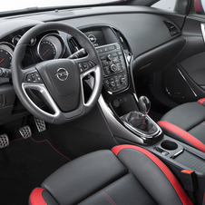 Inside the cars have optional leather seats with red trim
