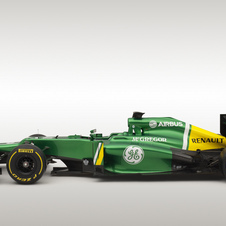 Caterham reshaped the sidepods and rear body work