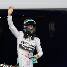 Rosberg is leading the championship 30 points ahead of Hamilton