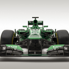 The car will get a new front and rear wing later in the season