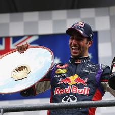 Ricciardo has already won three races on his debut Red Bull season