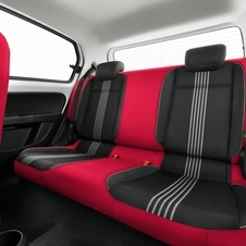 The colors are brought to the rear seats as well