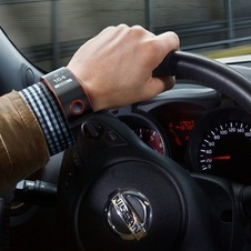 The watch is able to monitor what the car is doing and the driver's health