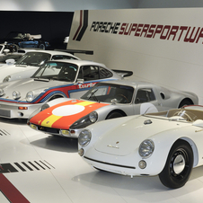 The exhibit includes some of the most rare Porsche models ever