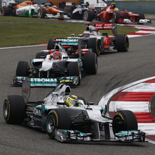It was the first win for Mercedes GP and Nico Rosberg