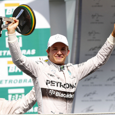 Rosberg has ended Hamilton's streak of five wins in Interlagos
