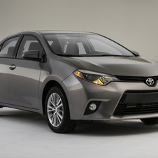 The Corolla will be the first car in its class with standard LED lights