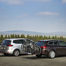 The rack is available on the Zafira Tourer and Astra Sports Tourer