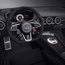 The interior is similar to a production TT, but with a few sport modifications
