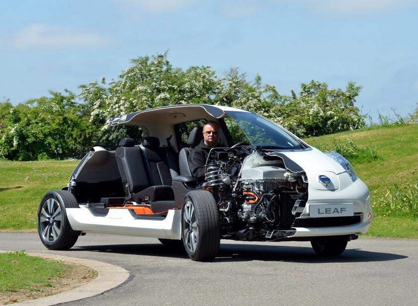 Nissan Leaf Gets Sliced In Half Still Drivable News