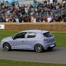 Renault brought a disguised version of the car to the Goodwood Festival of Speed