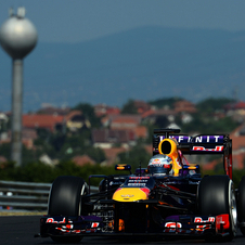 Red Bull has taken first and second in both Friday practice sessions