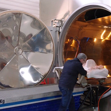Autoclaves are used to cure the carbon fiber