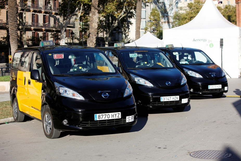 In Barcelona the taxi fleet will now be integrated by the e-NV200