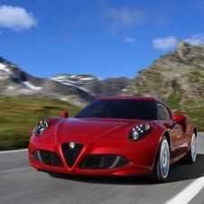 The 4C gets its speed from a small turbocharged engine and low weight