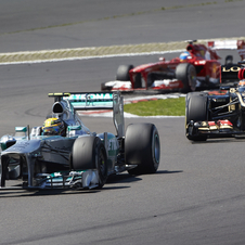 This is Lewis Hamilton's third pole position in a row