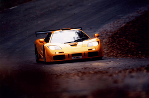 The F1 LM celebrated its win at the 1995 24 Hours of Le Mans